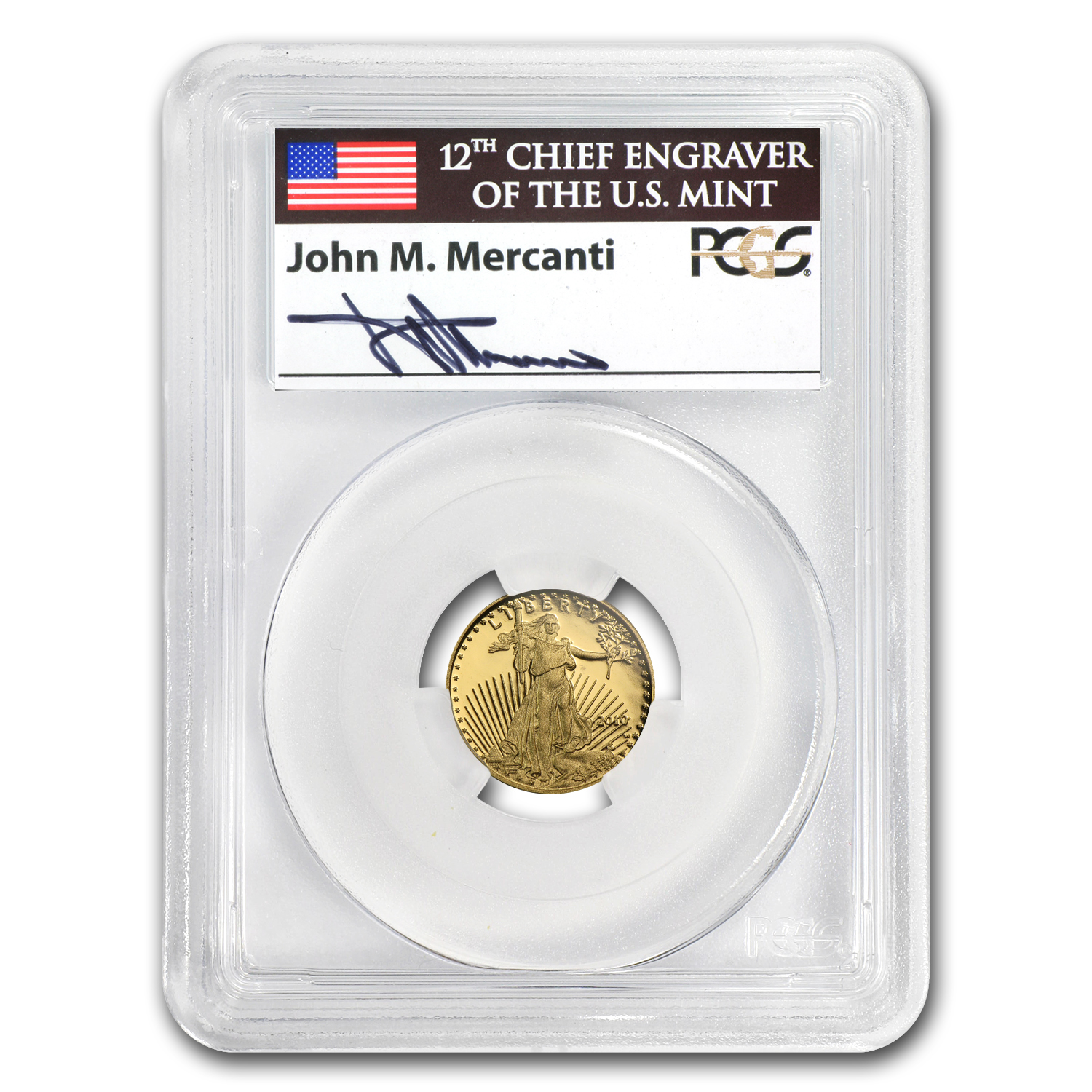 2010-W 1/10 oz Proof Gold American Eagle PR-69 PCGS John Mercanti